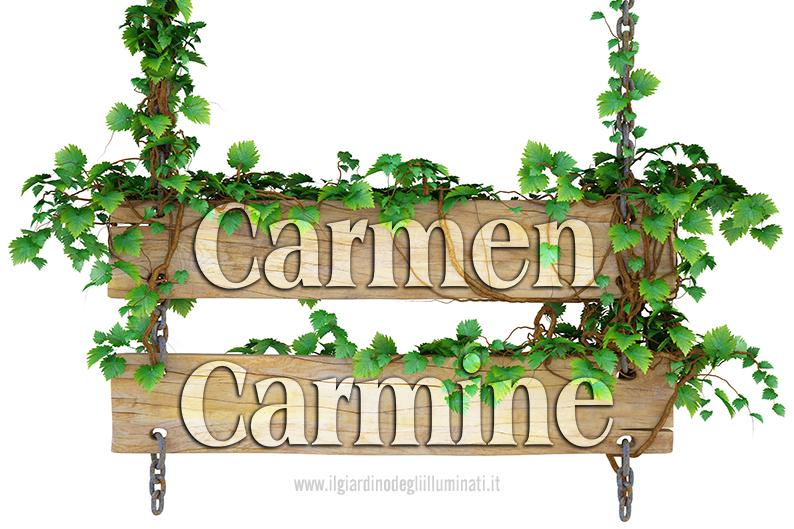 Carmen Carmine significato e origine