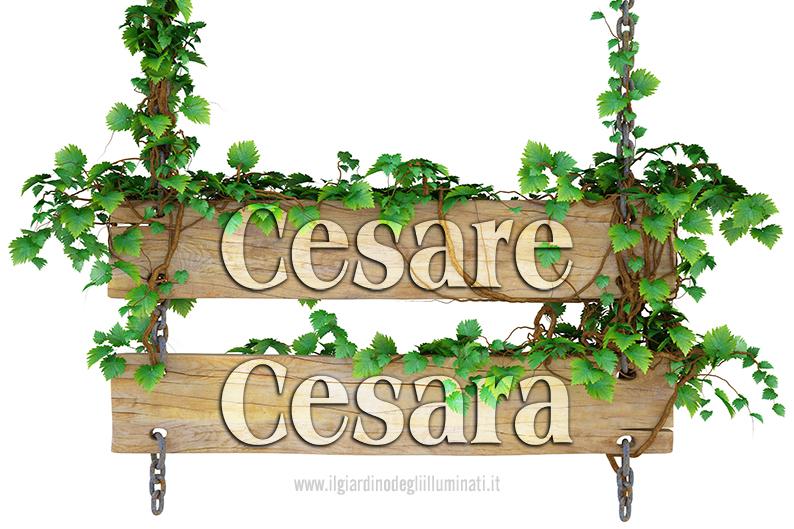 Cesare Cesara significato e origine
