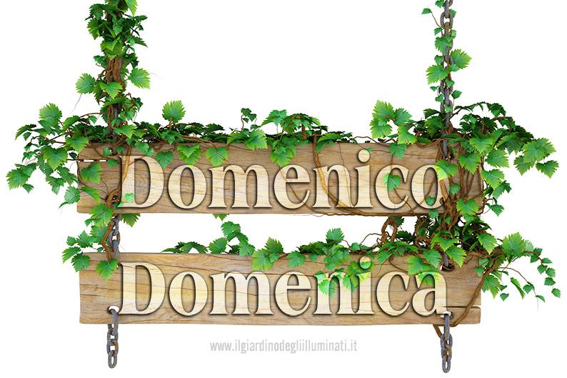Domenica Domenico significato e origine