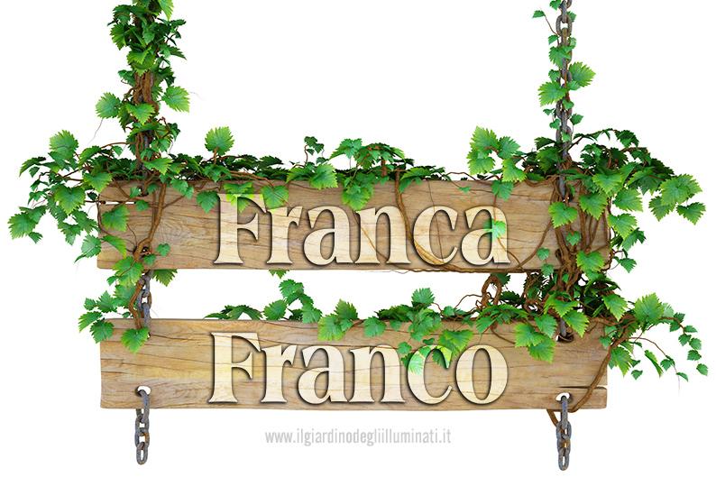 Franca Franco significato e origine