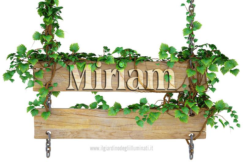 Miriam significato e origine
