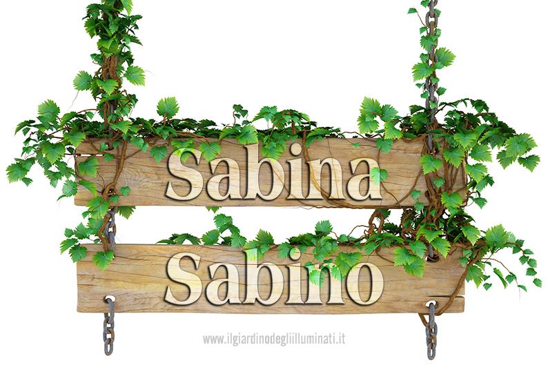 Sabina Sabino significato e origine