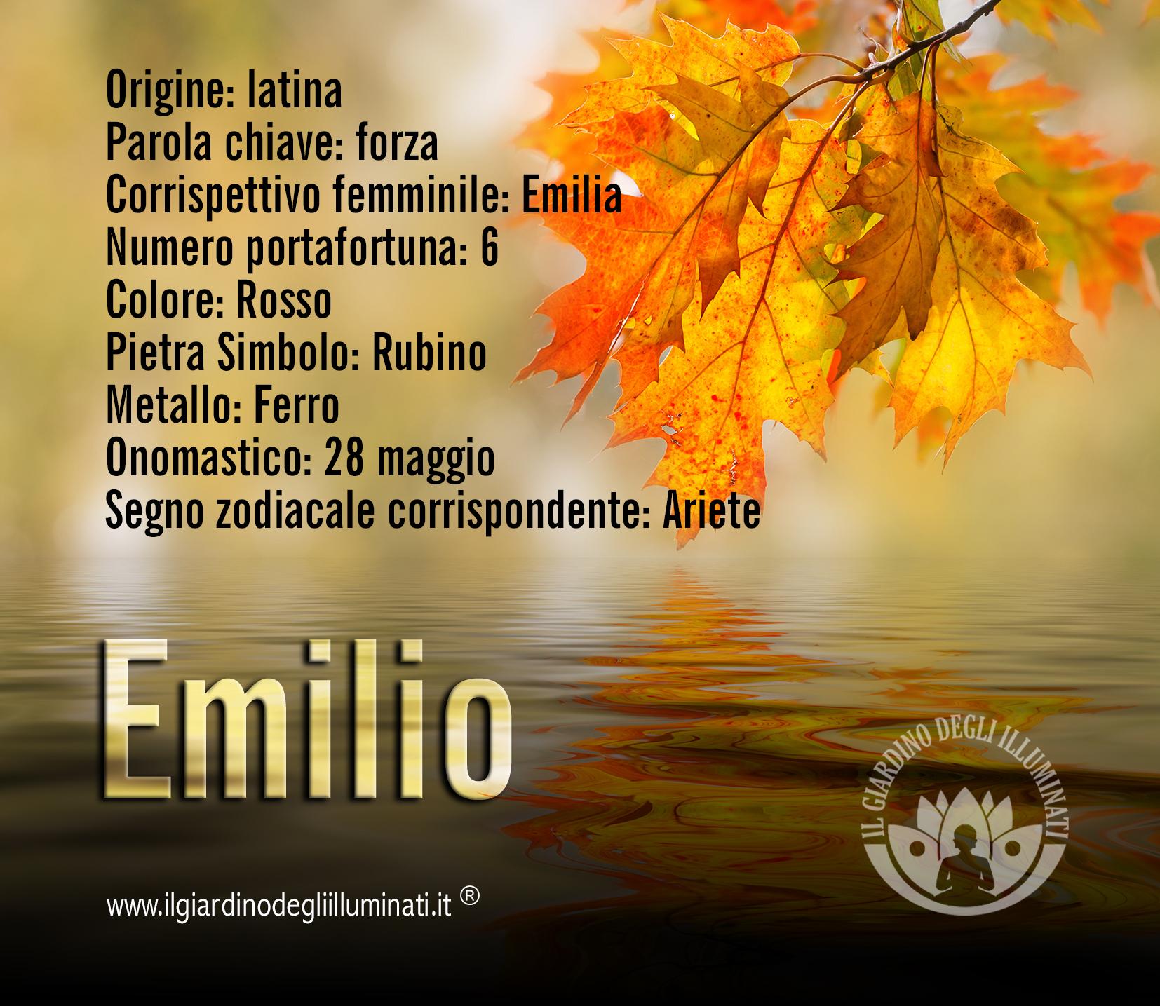 Emilio significato e origine