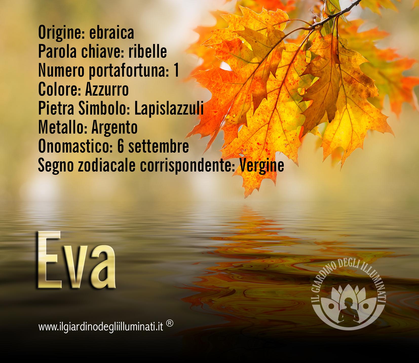 Eva significato e origine