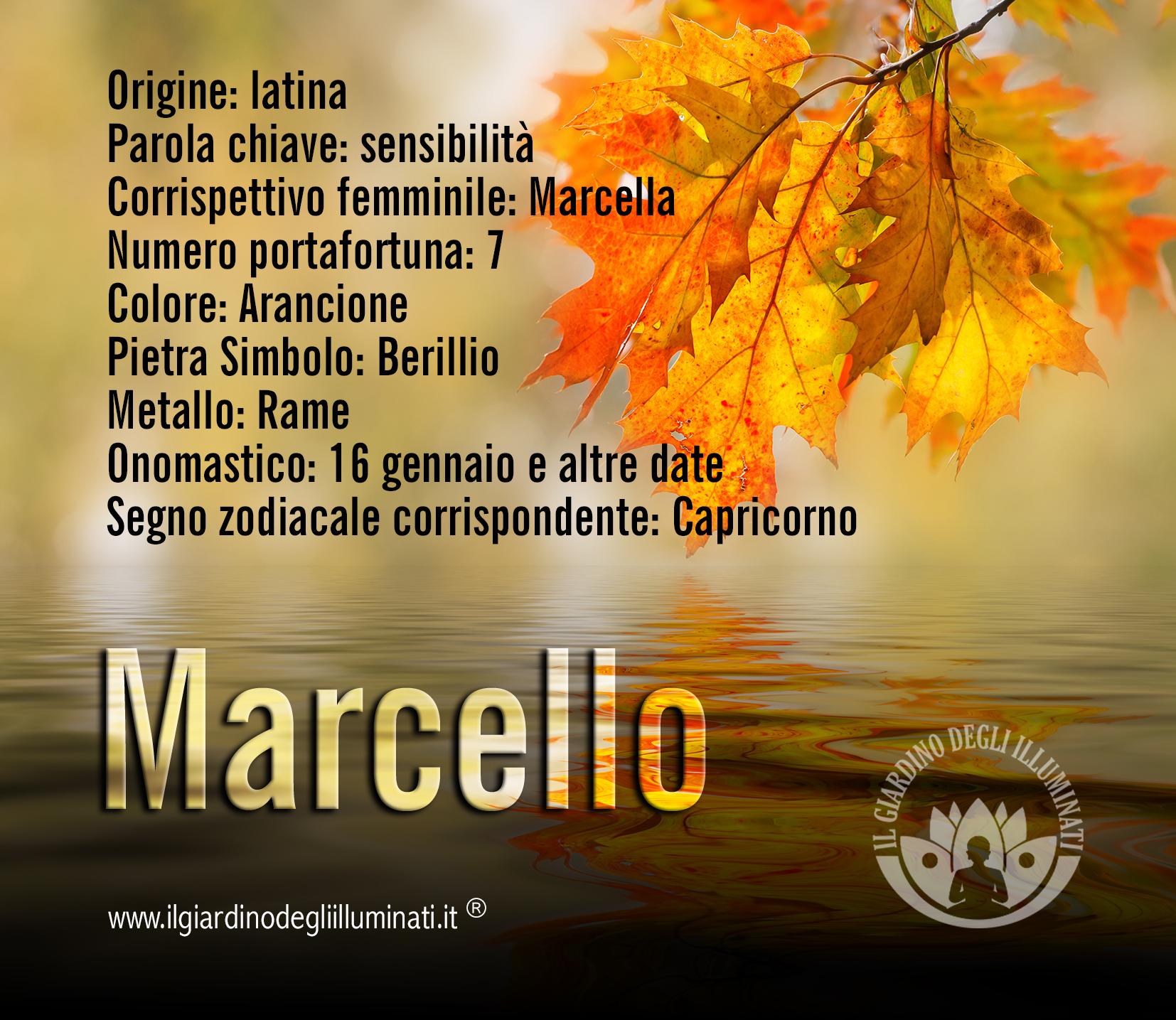 Marcello significato e origine