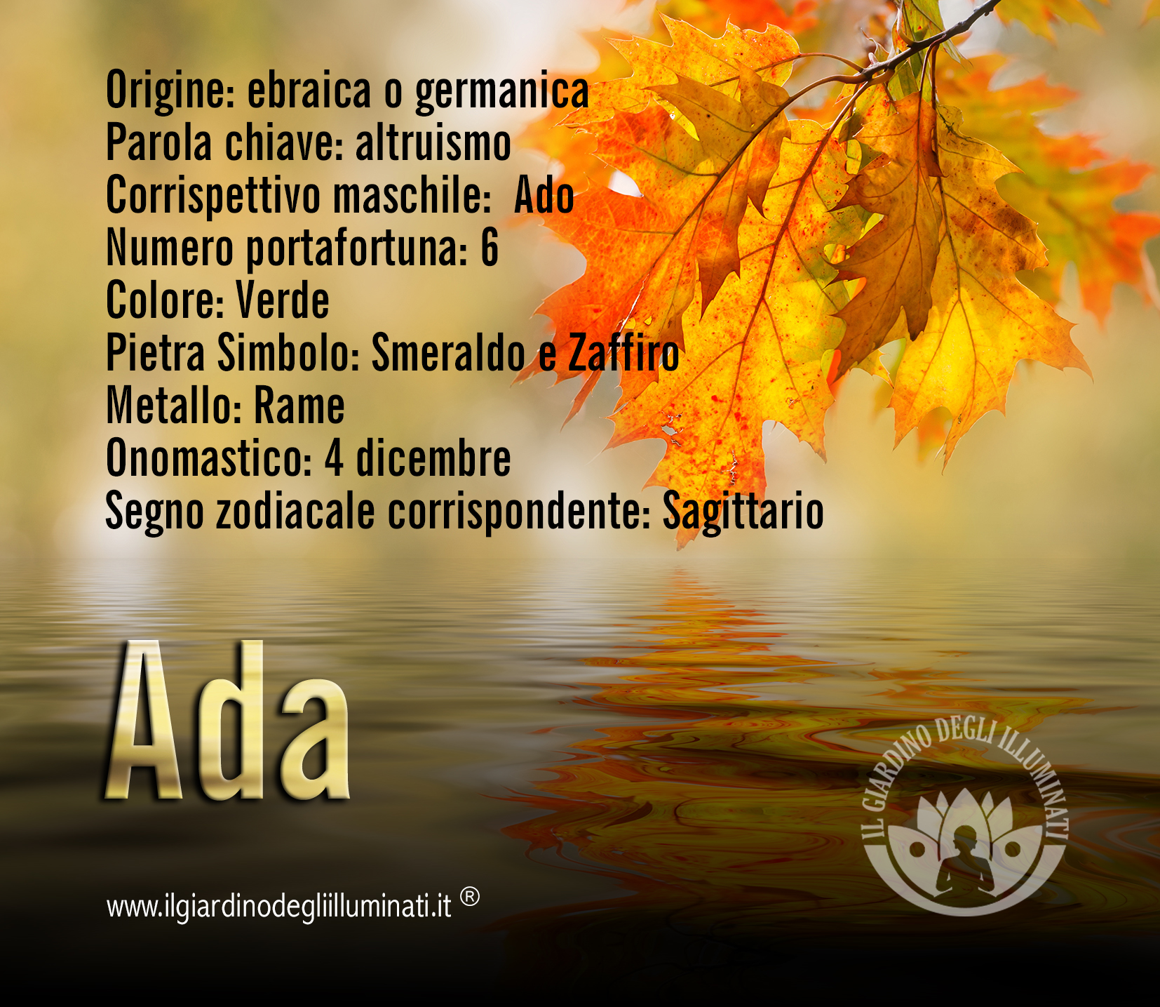 Ada significato e origine